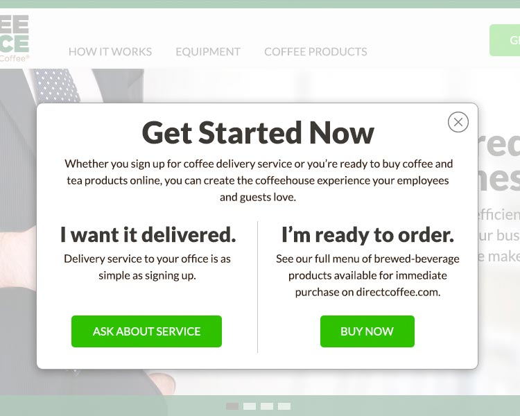 Get Started Now, Whether you sign up for coffee delivery service or you're ready to buy coffee....